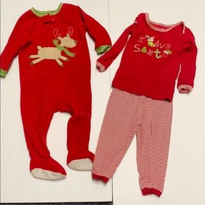 LOT HOLIDAY I love Santa outfit and onesie footies